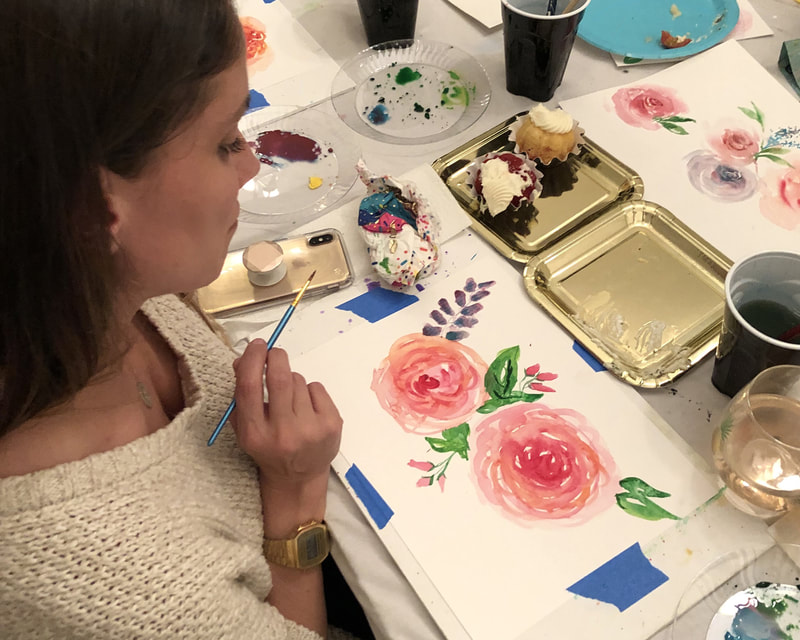 Paint parties, Watercolor workshops, team building and watercolor classes
