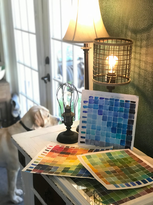 Using your color mix chart as artwork