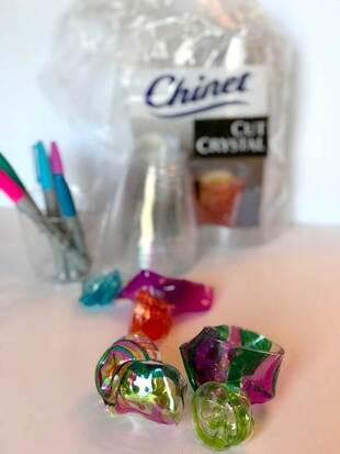 Chihuly glass kid's art project supplies