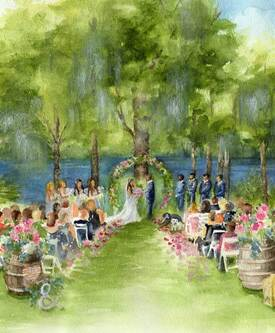 Live wedding painting at Marina Del Ray in Howie In The Hills